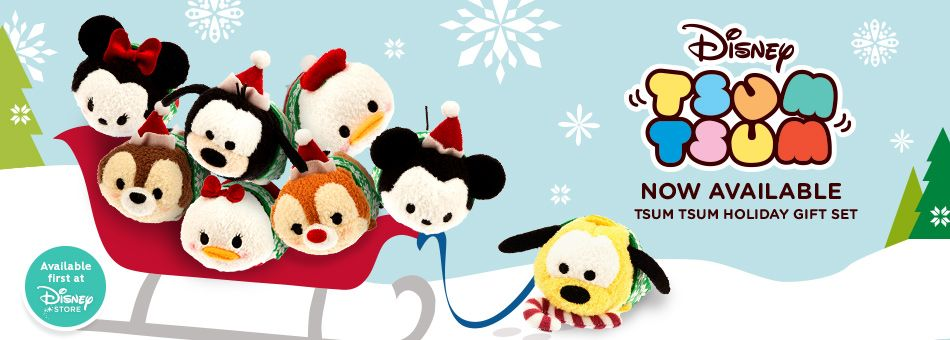 Mickey and Friends Christmas Tsum Tsum Set now available ...