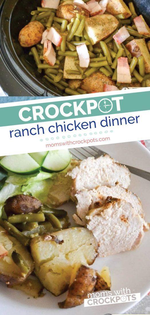 Crockpot Ranch Chicken Dinner Recipe - Moms with Crockpots