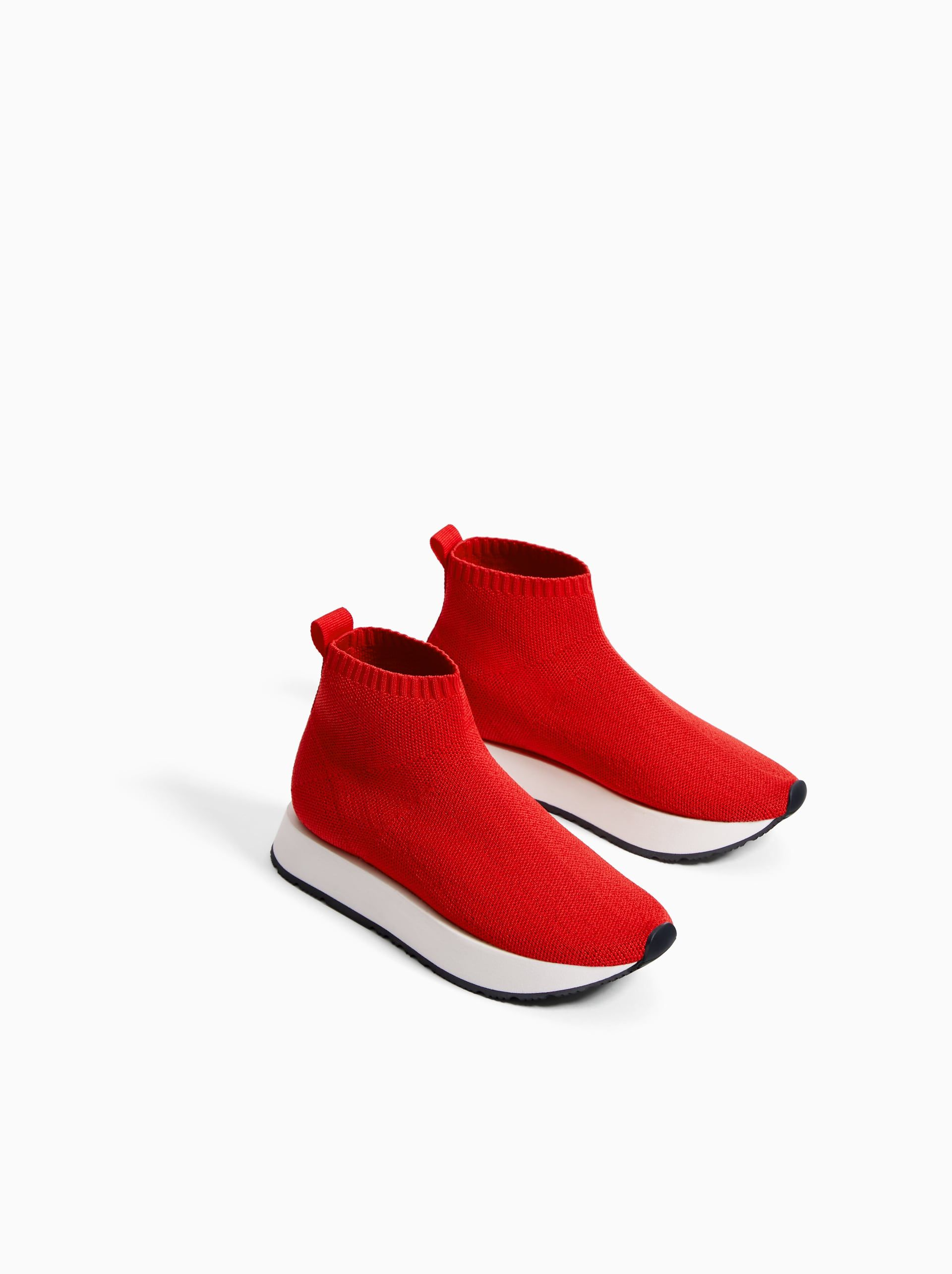 5a76ed295c2 Afbeelding 2 van HIGH-TOP SNEAKERS MET SOK van Zara   Shoes in 2019 ...