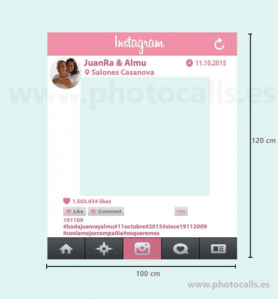 Marco Instagram Rosa Frente   Diseño de matrimonios   Pinterest