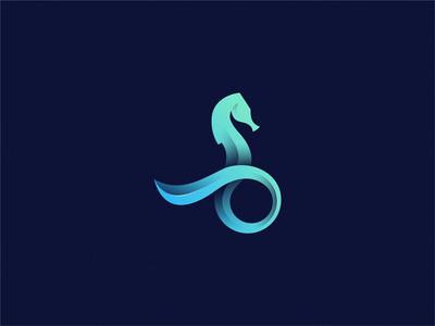Seahorse Pet Logo Design Seahorse Sea Logo