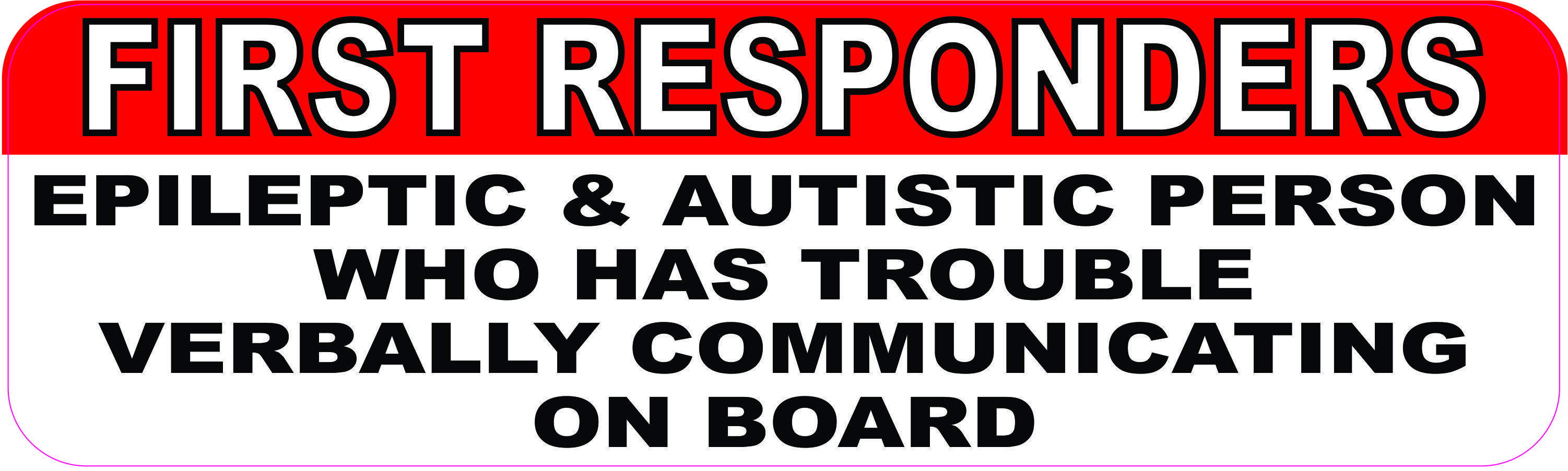 10in X 3in Epileptic And Autistic Person On Board Magnet Autistic Children Autism Treatment Therapy For Autism [ 903 x 3003 Pixel ]