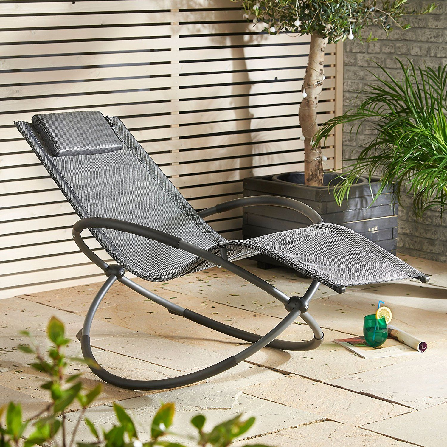 Admirable Vonhaus Orb Rocking Chair Outdoor Folding Aluminium Frame Download Free Architecture Designs Lectubocepmadebymaigaardcom