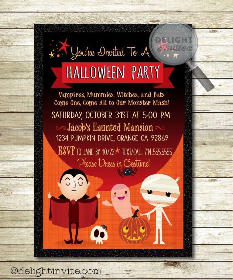 vampire halloween costume party invitations - Creative Halloween Party Invitations