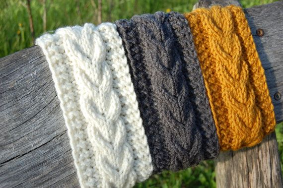 Knitted Headband Hand knit headband Knitted Ear by luludress