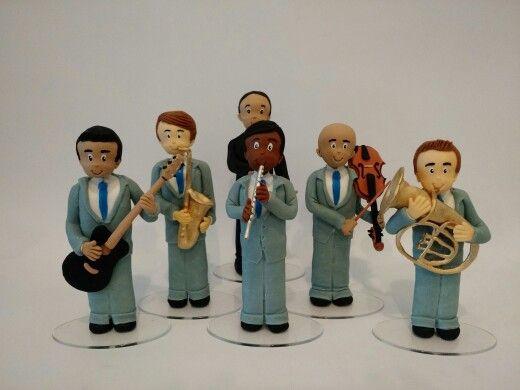 Bonecos músicos