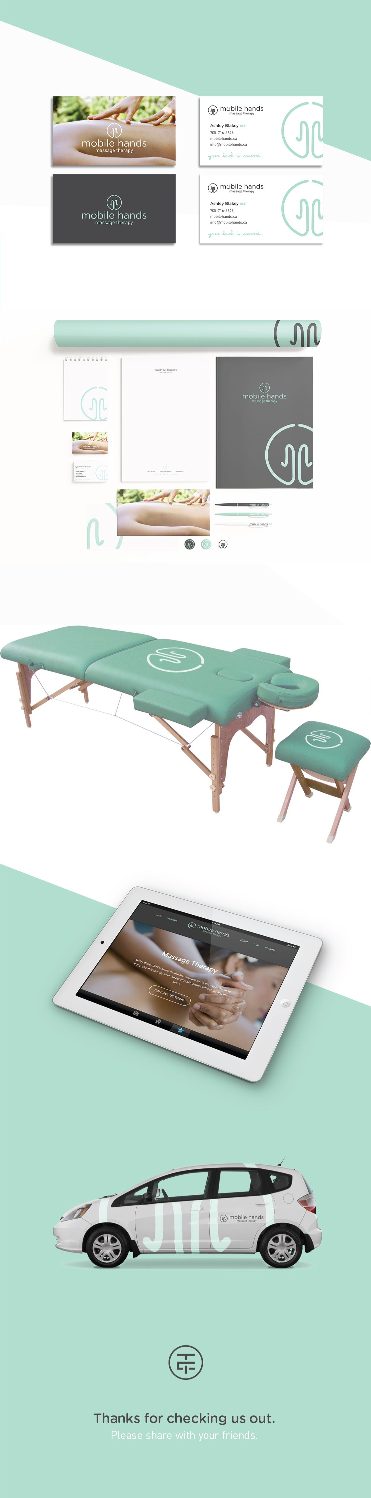 Brand And Print Collateral For Massage Therapist