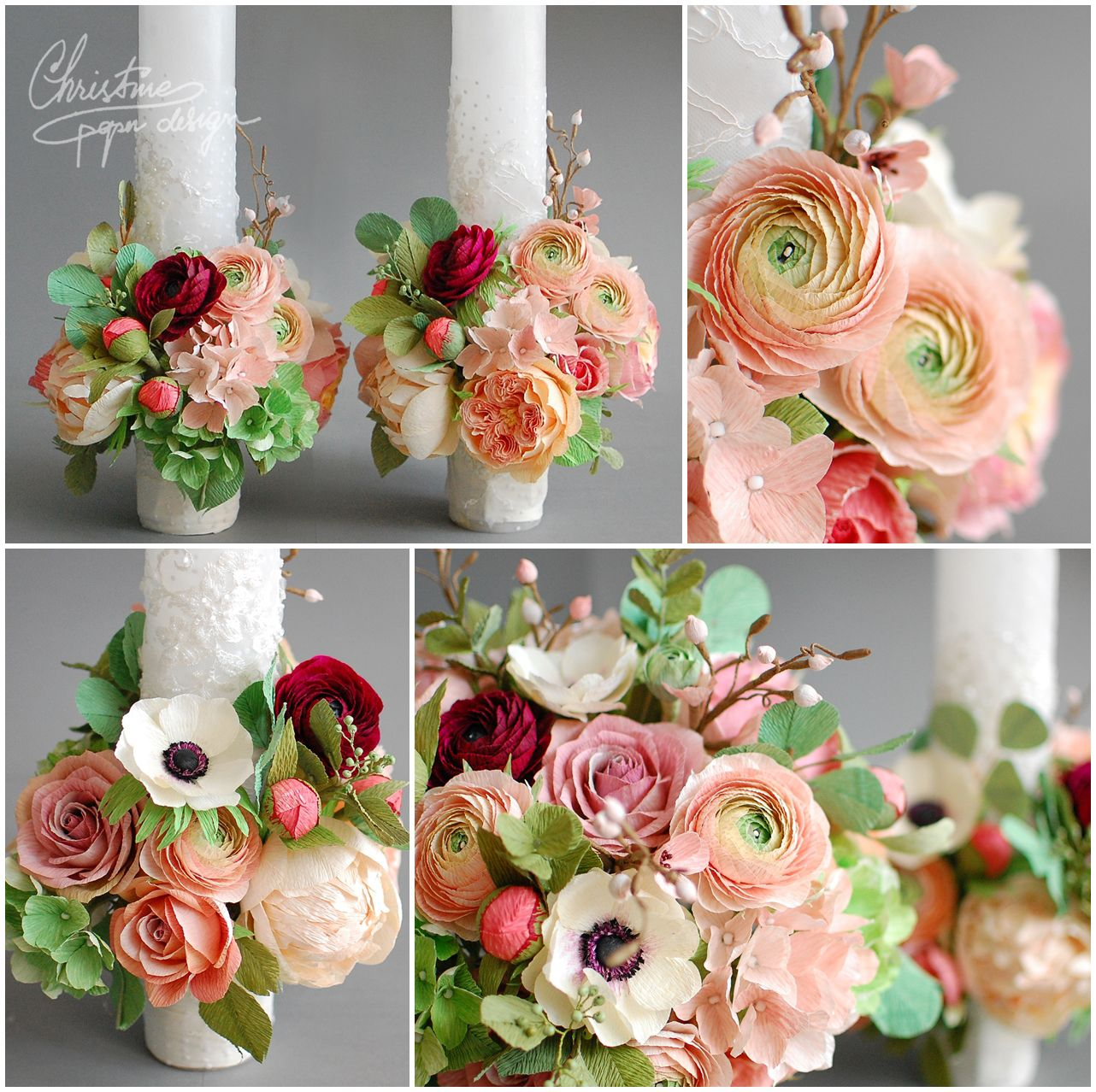 Paper Flower Bridal Bouquet Christine Paper Design 2 Arcade De