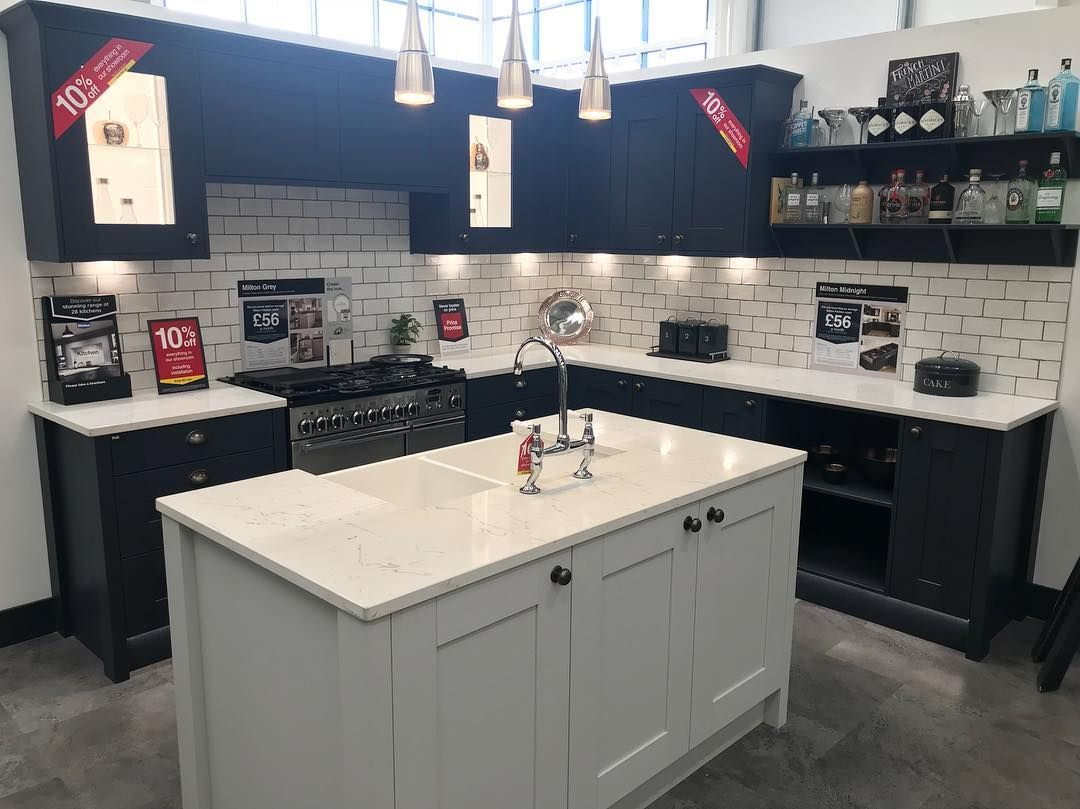 Best Wickes Milton Midnight And Grey Wickes Kitchens 400 x 300