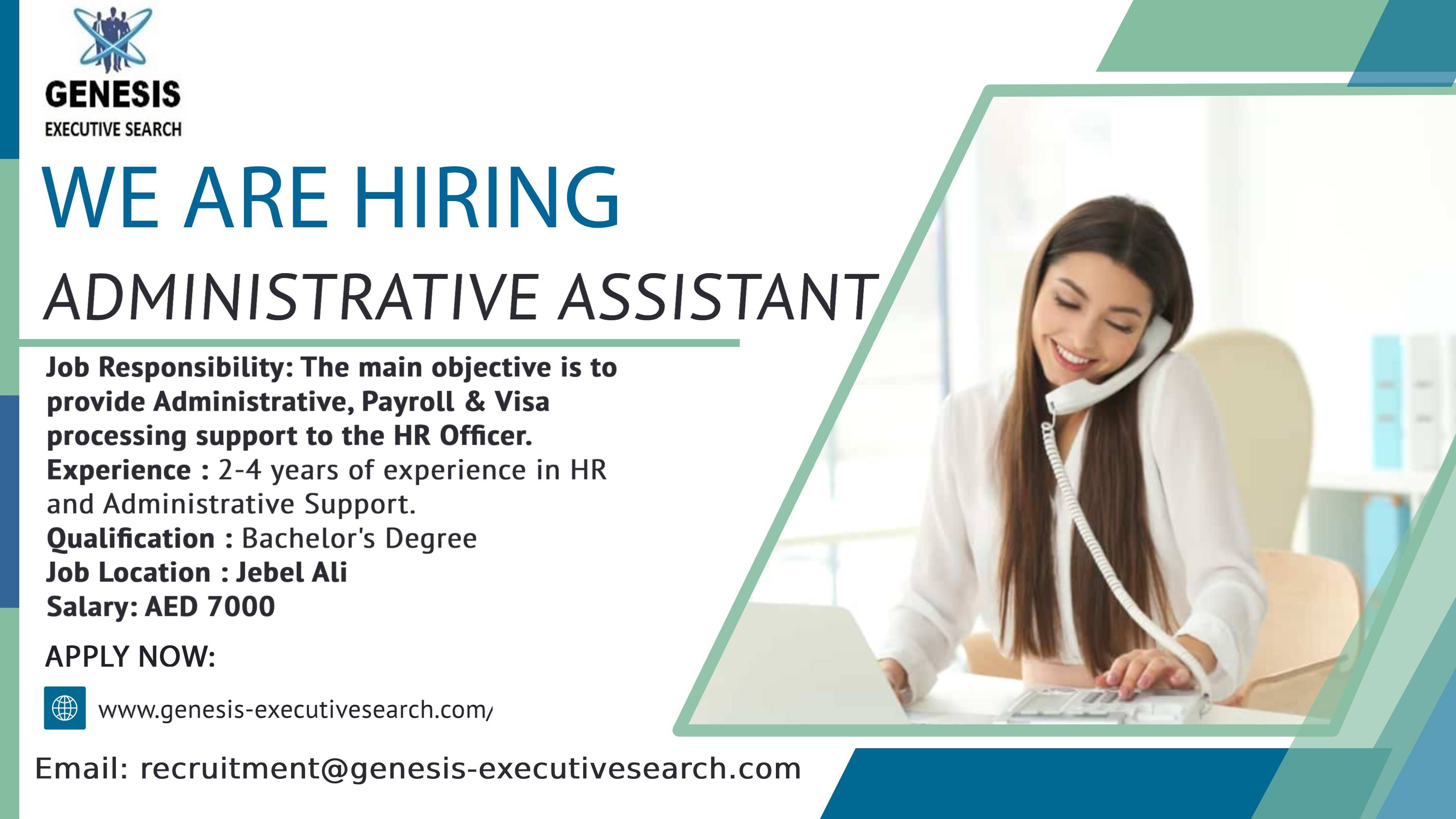 Vacancy Administrative Assistant Administrative Assistant Jobs Admin Jobs Administrative Assistant