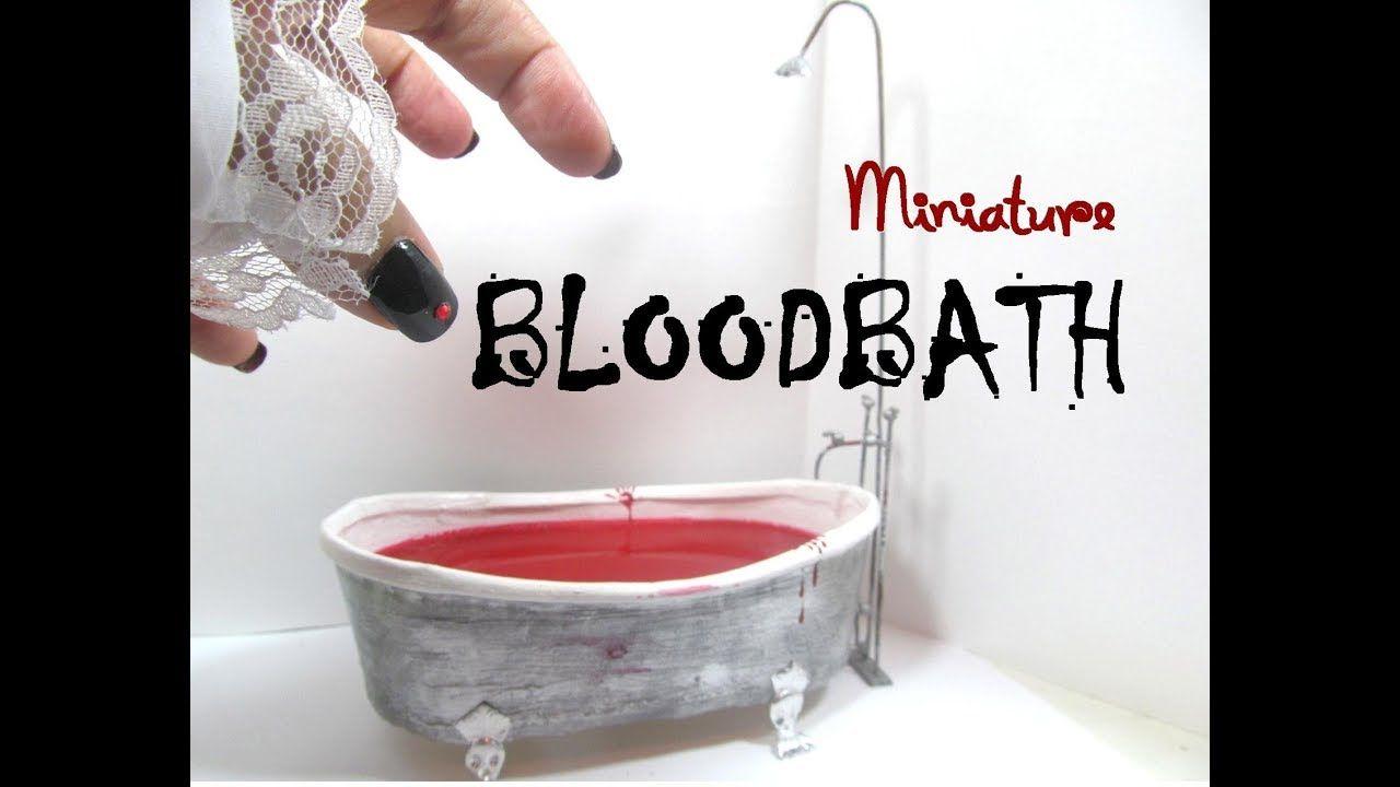 Clawfoot bathtub bloody bathtub halloween diy collab made from an