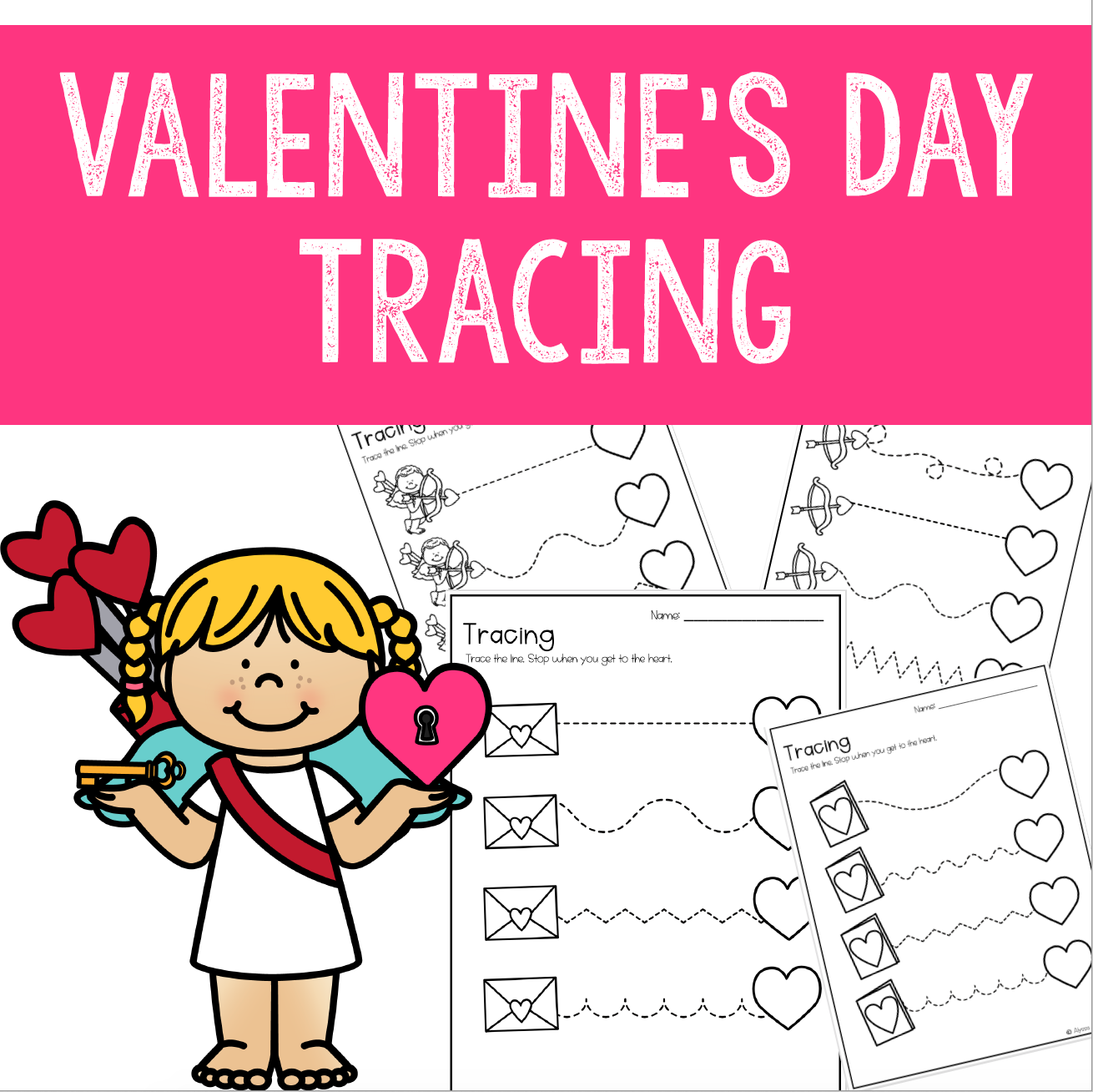 Valentine S Day Tracing Worksheets For Preschool
