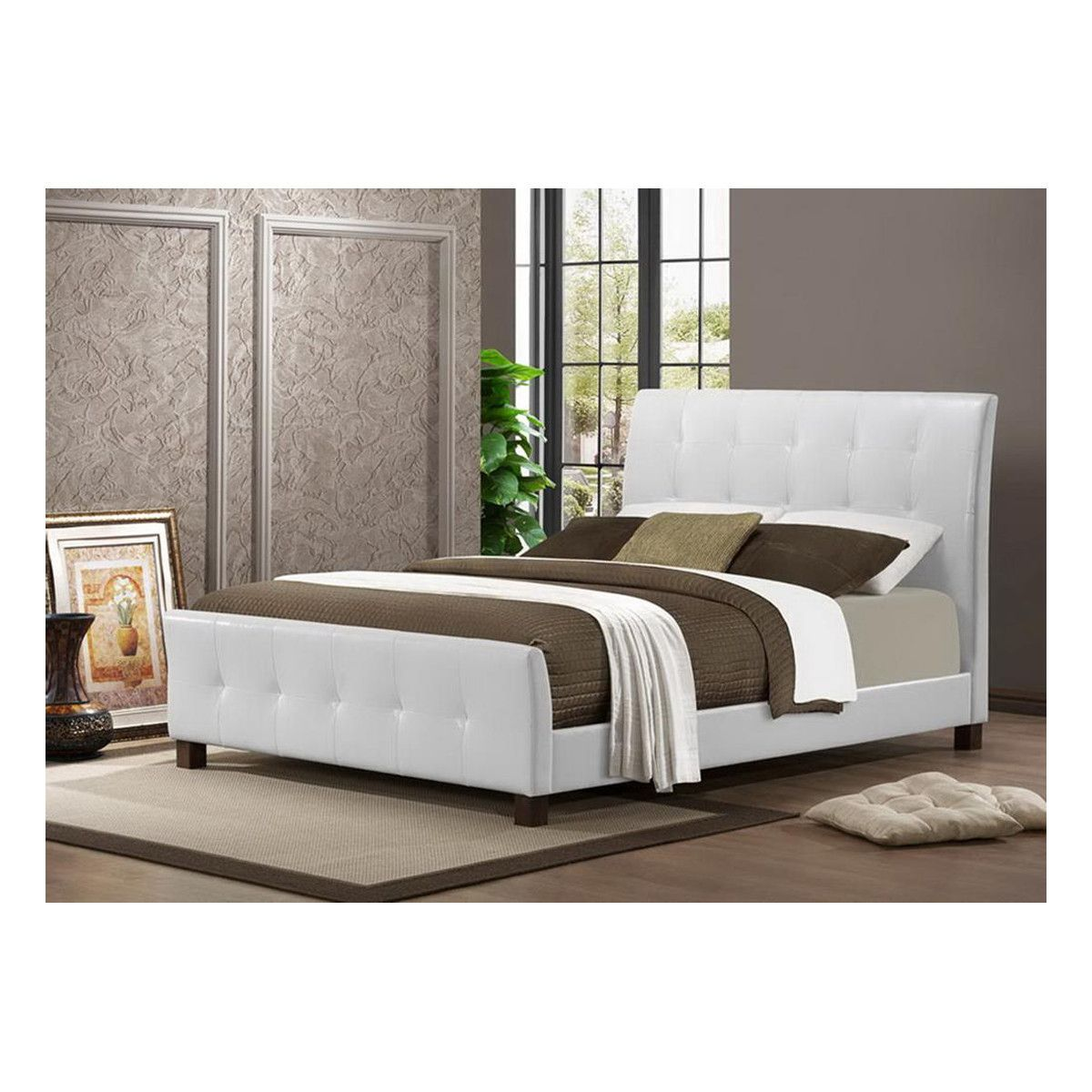 Amara white modern bed bed headboards modern and contemporary