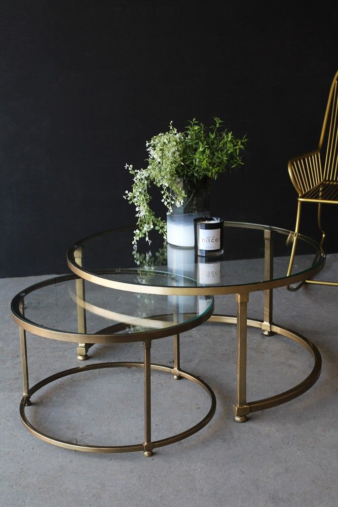 Best Set Of 2 Circular Circus Nesting Tables Side Table Decor 400 x 300