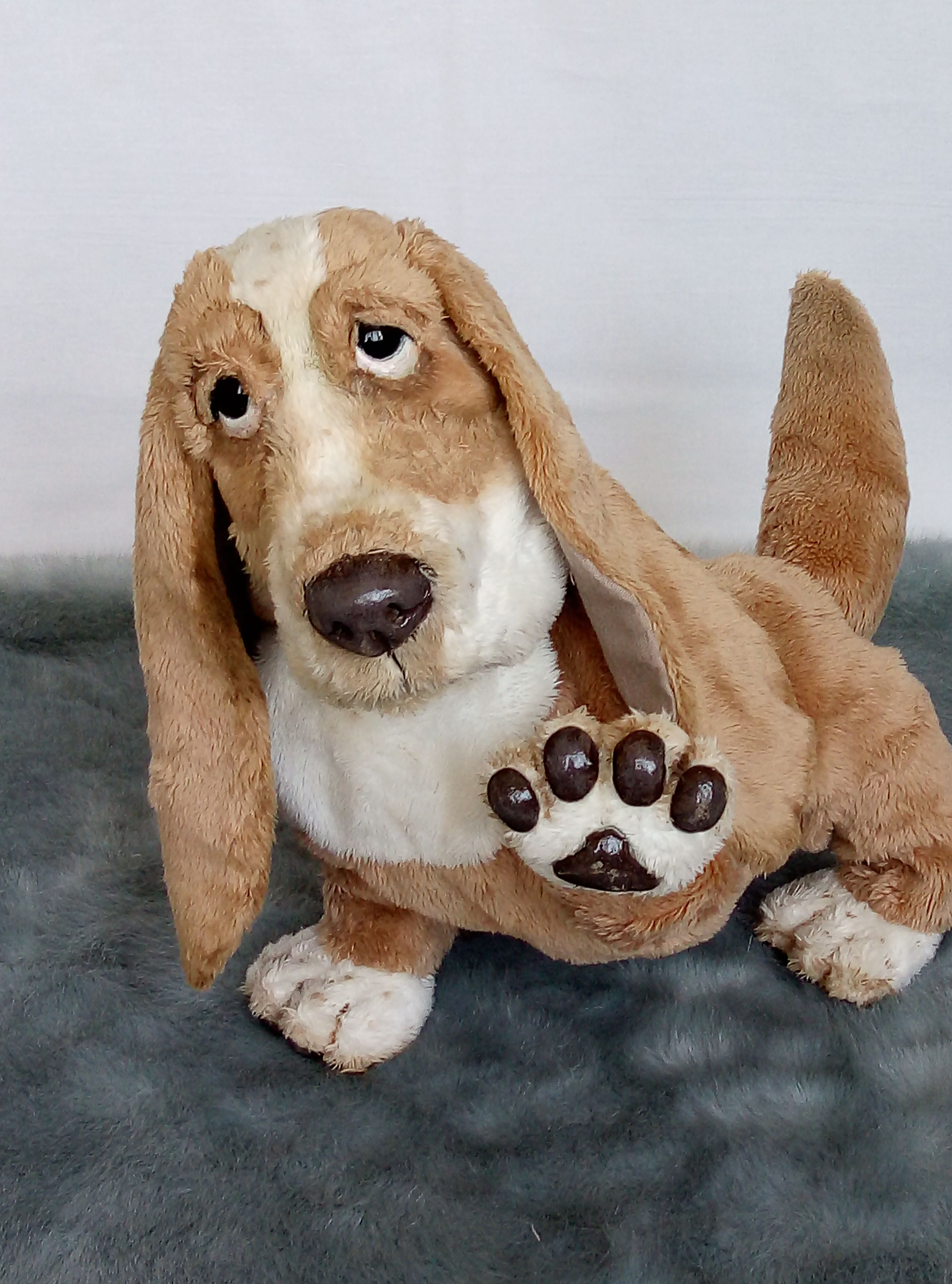 Realistic Animal Portrait Puppy Basset Hound Plush Collectible Etsy Realistic Stuffed Animals Puppies Dog Gifts [ 4208 x 3120 Pixel ]