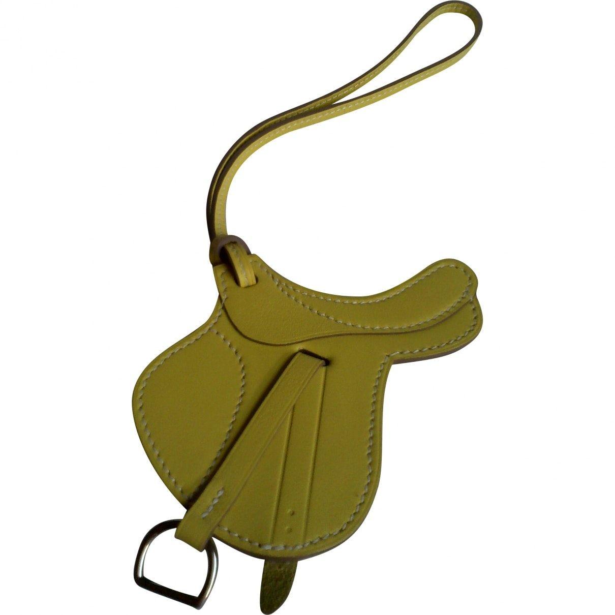 hermes bag charm saddle