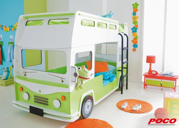 poco einrichtungsmärkte autobett | quarto dos meninos | pinterest