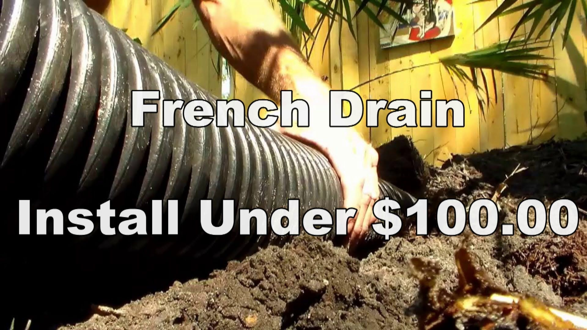 Do It Yourself French Drain Less Than 100 Home Diy