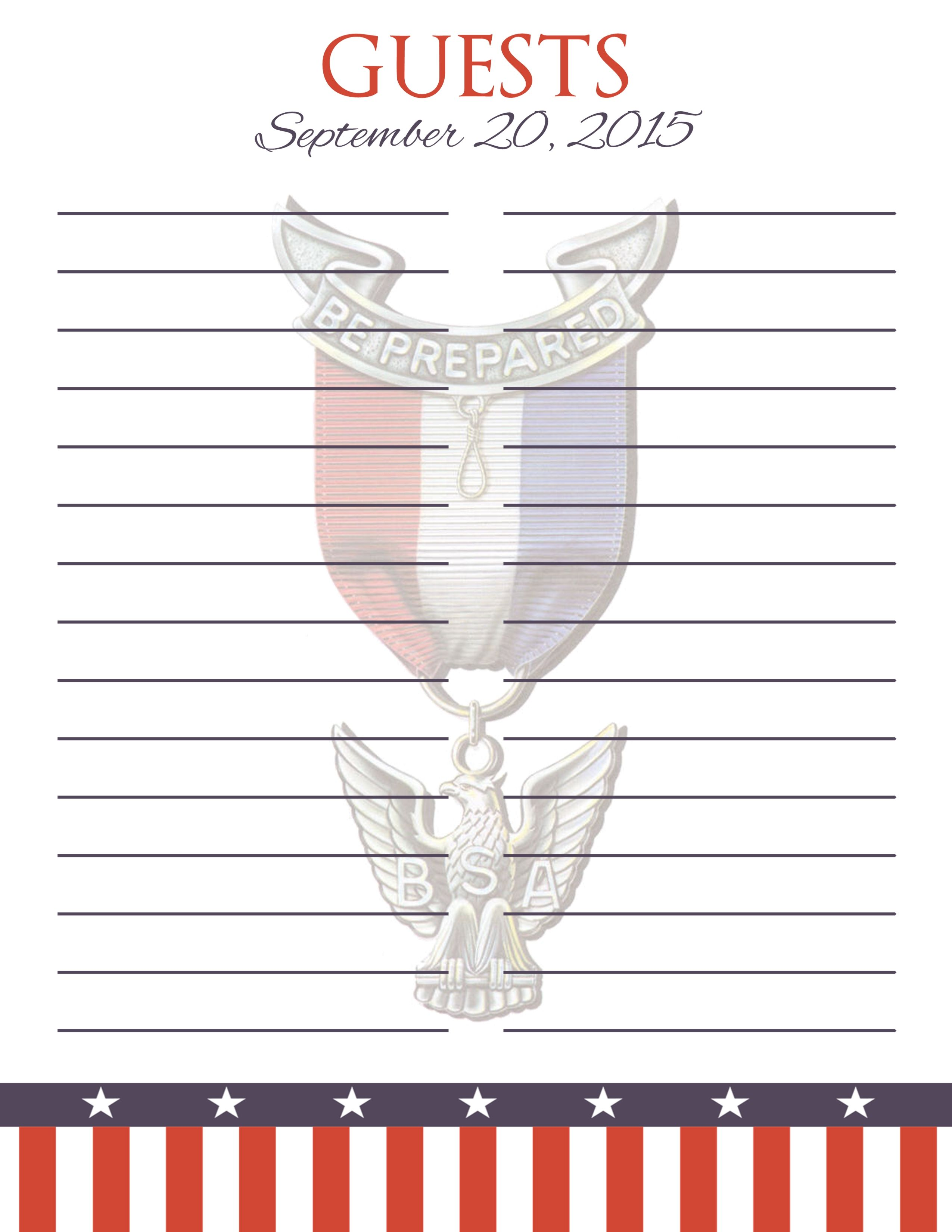 guest book sign in sheets eagle scout eagle scout eagle scout