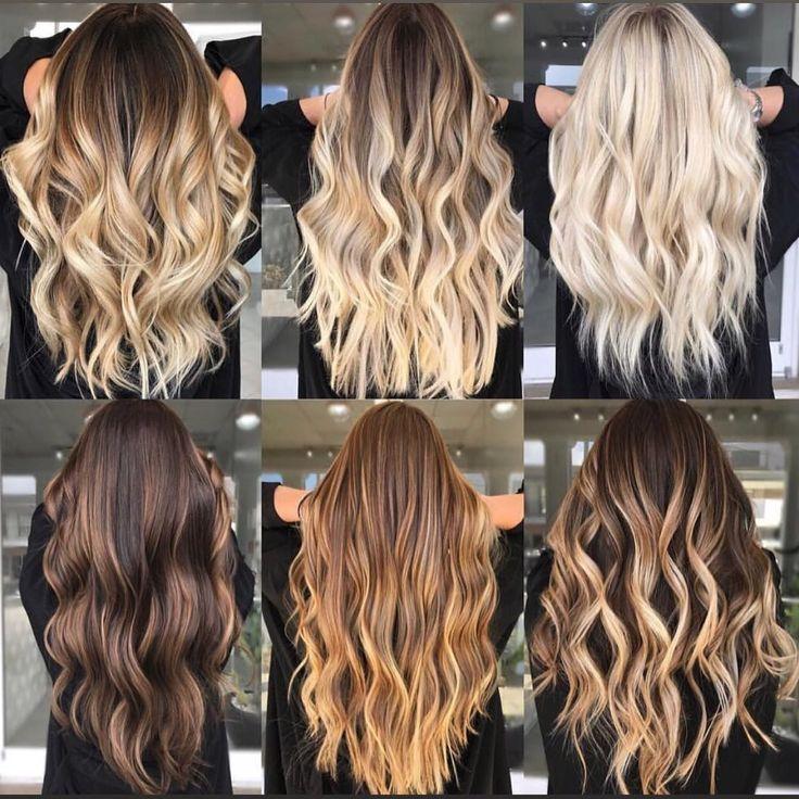 20 Balayage Brown bis Blonde Lange #longhair