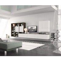 Hängende Wohnwand Weiß Modern Design Holz Eiche Wohnzimmer Anbauwand Amazing Pictures