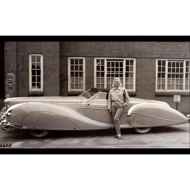 Diana Dors And Her 49 Delahaye With Images Delahaye Cars
