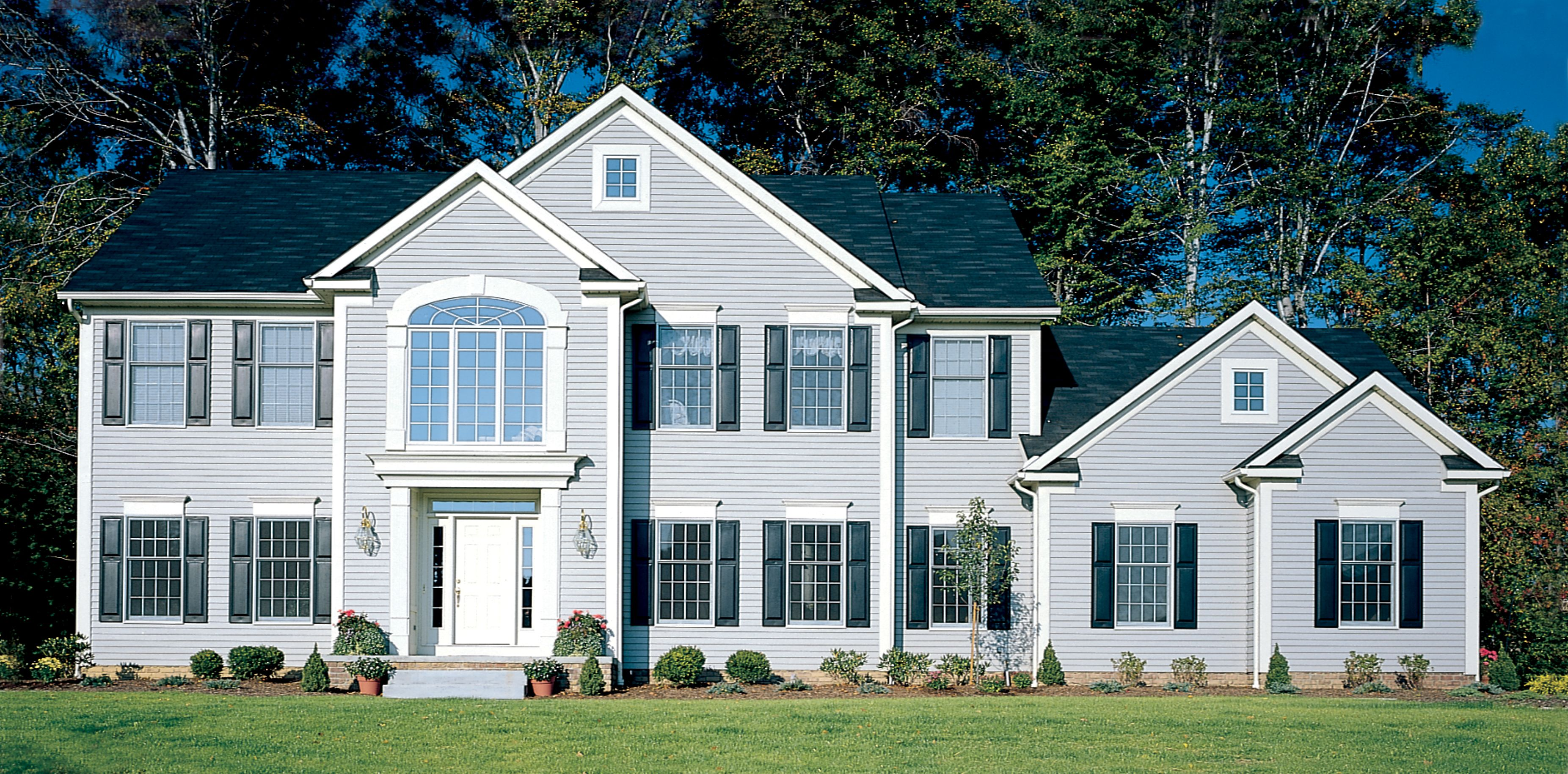 Pin By My Design Home Studio On Vinyl Siding House Exterior House Styles Blue Shutters