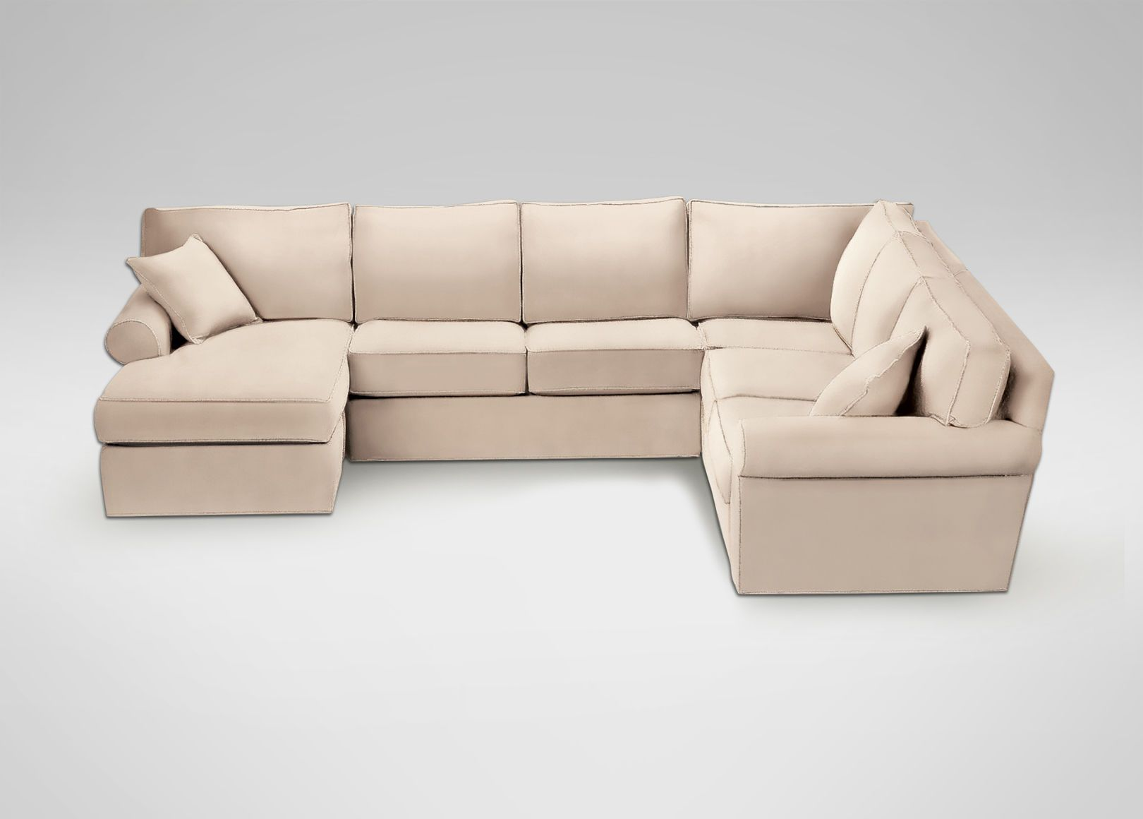 Retreat Roll Arm Sectional With Chaise Ethan Allen