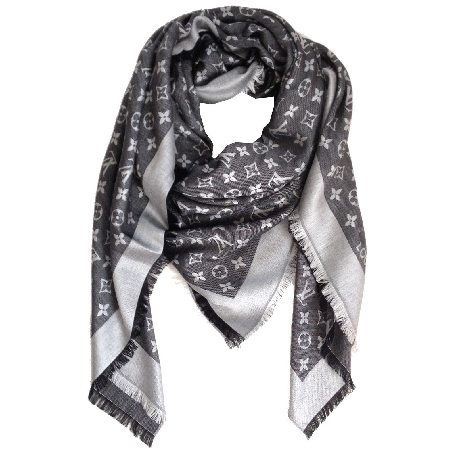 01adcd57d Louis Vuitton Scarf Monogram Denim Shawl Black | Stitch Fix Pin ...