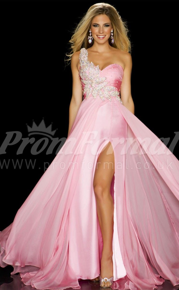Candy Pink long prom dresses | wedding dresses | Pinterest ...