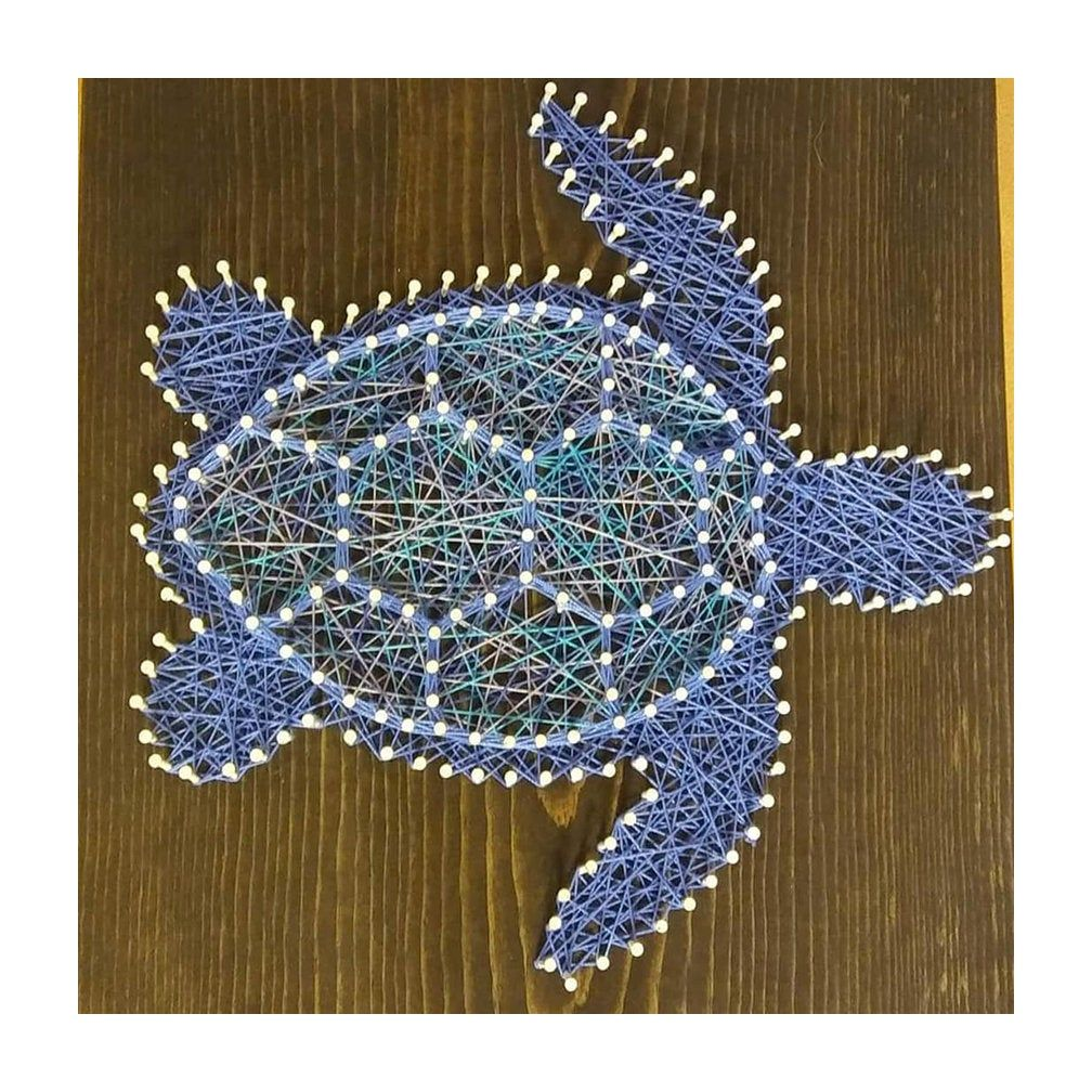 Digital Download - String Art Template - Sea Turtle - ***SVG, SXF, PDF- Zip File*** This will change your life.