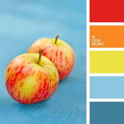 celeste y rojo, color aguamarina, color amarillo verdoso, color