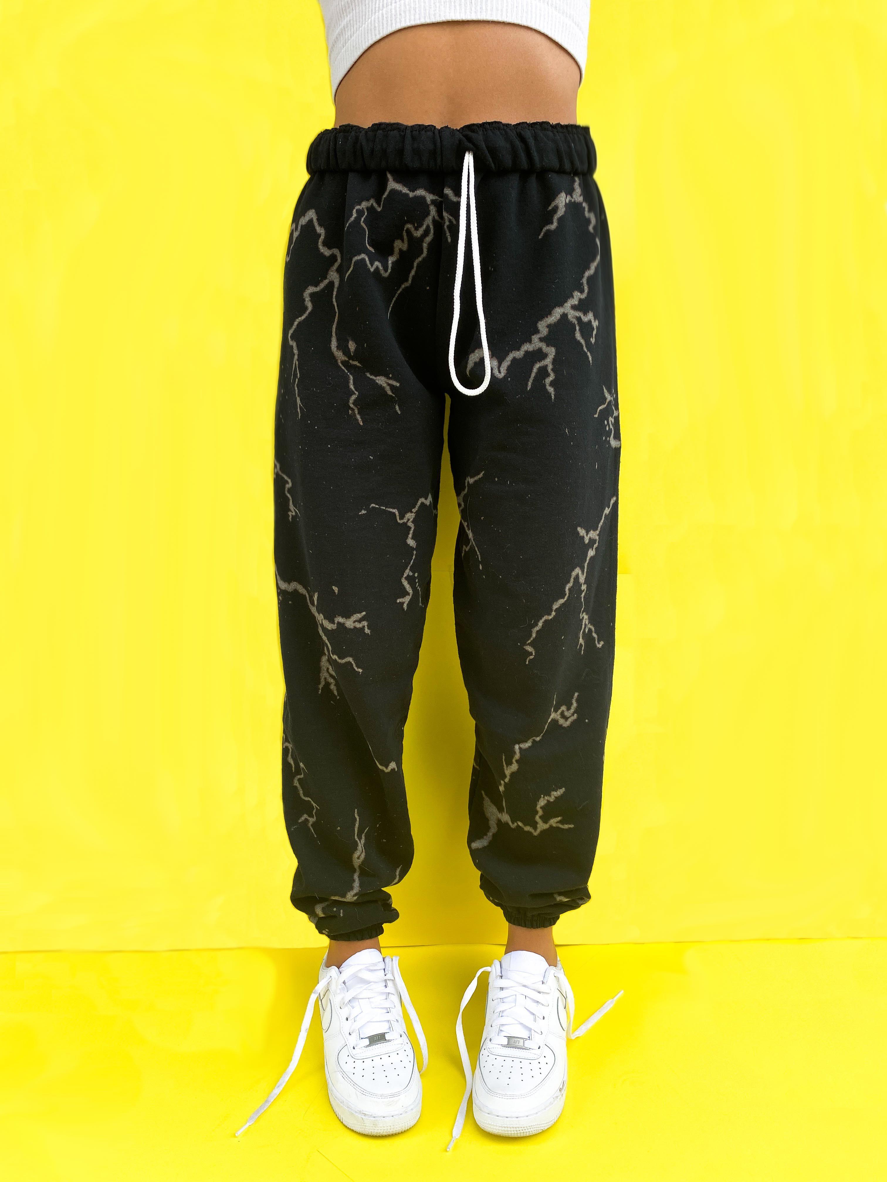 M Bleached Rose Sweatpants Large