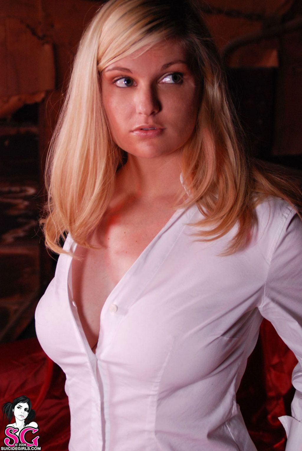 Blonde busty hot natural