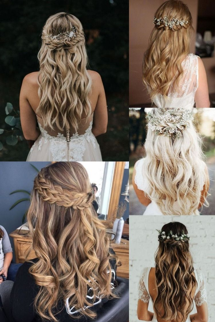 Top 20 Half Up Half Down Wedding Hairstyles Long Hair Wedding Styles Formal Hairstyles For Long Hair Hair Styles