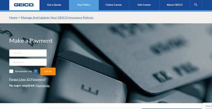 Geico Bill Pay Online Login Customer Service Sign In Paying