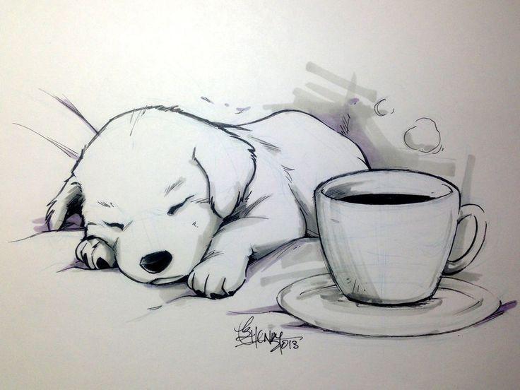 Coffee Doggy Tracerhank Deviantart Com No Coffee Can Keep This