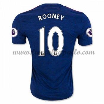Jalkapallo Pelipaidat Manchester United 2016-17 Rooney 10 Vieraspaita