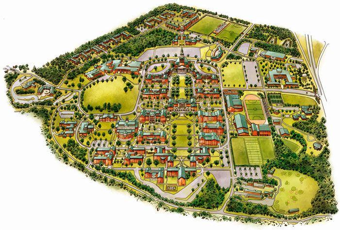 Wake Forest University Campus Map - Kyle T. Webster | Random ...