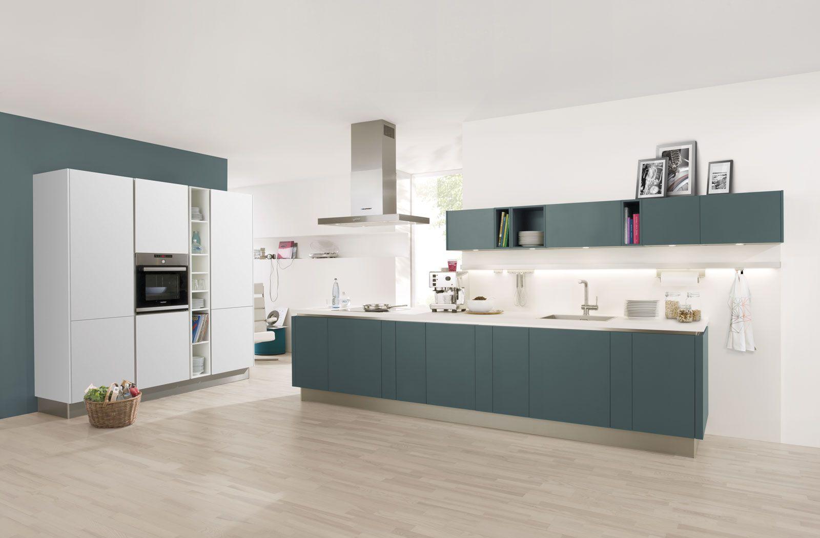Uno GL | Laser Soft GL | Wit | Aquamarijn - Häcker Küchen - Häcker ...