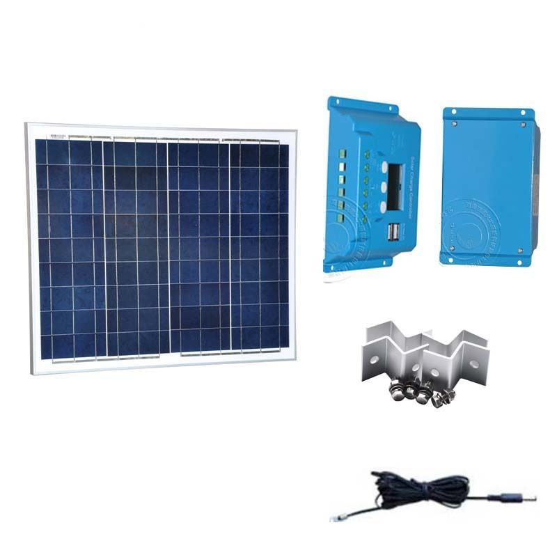 Kit Pannello Solare 12v 50w Portable Solar Charger Battery Solar Charge Controller 12v 24v 10a Lcd Display M Solar Panels Portable Solar Panels 12v Solar Panel