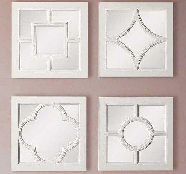 Elegant Square Framed Mirrors, Set of 4 | Frame mirrors, Mirror ...