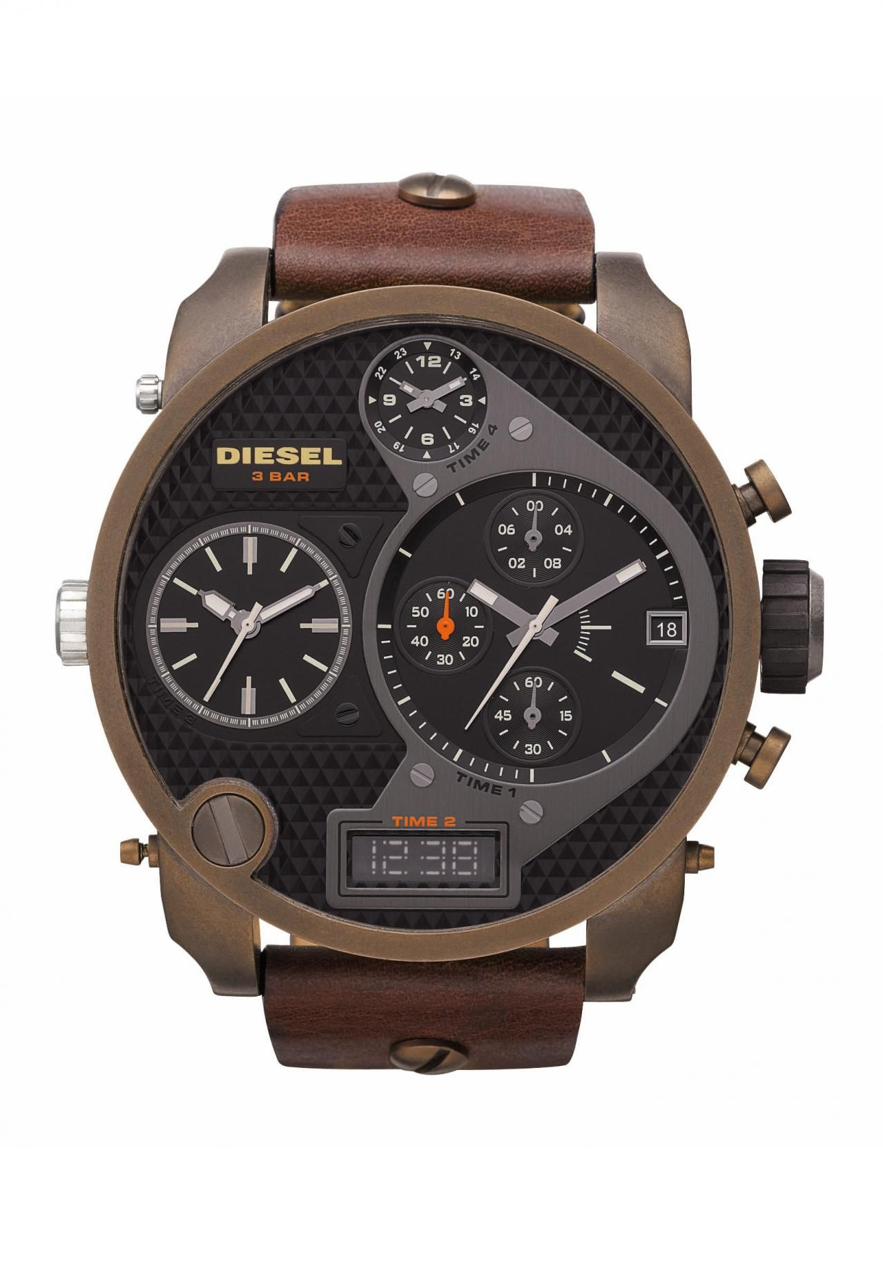 d89d35a3e50 Diesel XL Oversize Men´s Chronograph DZ7246 nur € 299.00. Relógios  MasculinosPensamentosRelógio ...