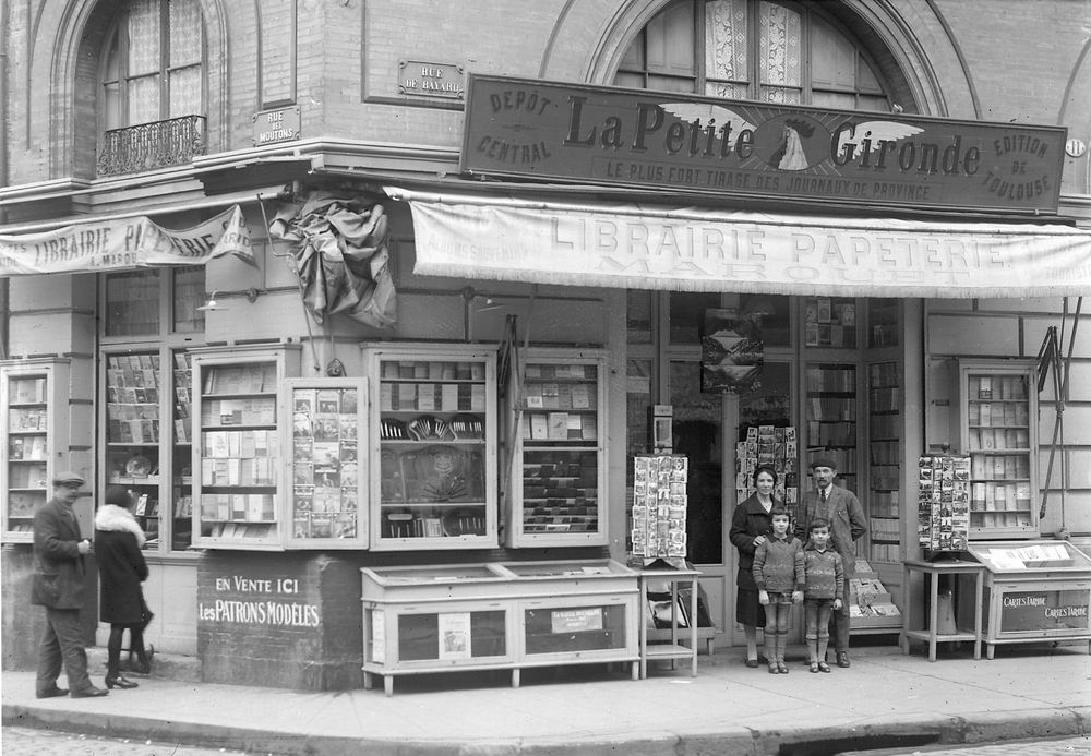 20 Photo commerce Toulouse Librairie Marouet La Petite Gironde  tirage repro an