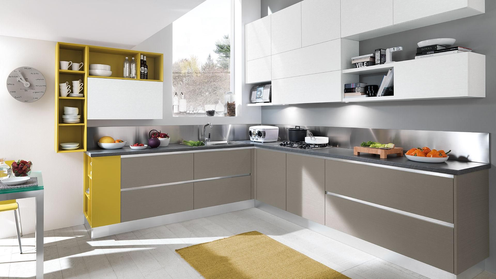 Cucine Lube | Cucine Lube | Pinterest | Hidden kitchen, Interiors ...