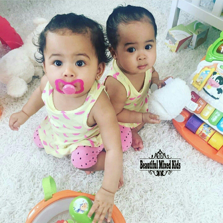 Zara & Amari 9 Months • African American & Chinese ❤❤ FOLLOW