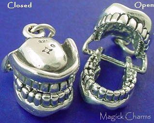 False Teeth 3D Movable Charm