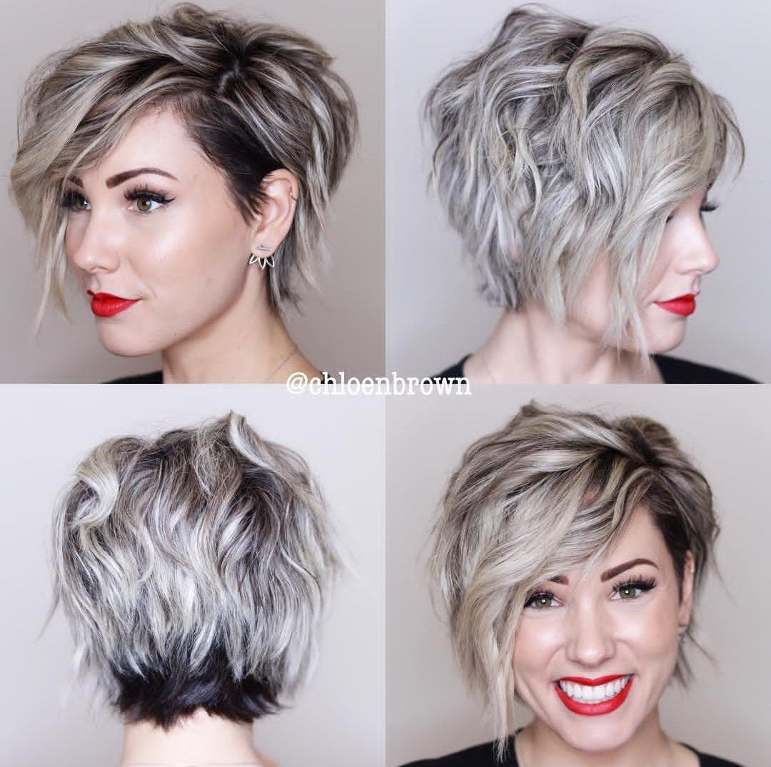 Asymmetrical Pixie Bob 360 View Prom Hairstyles For Short Hair Thick Hair Styles Short Hair Styles