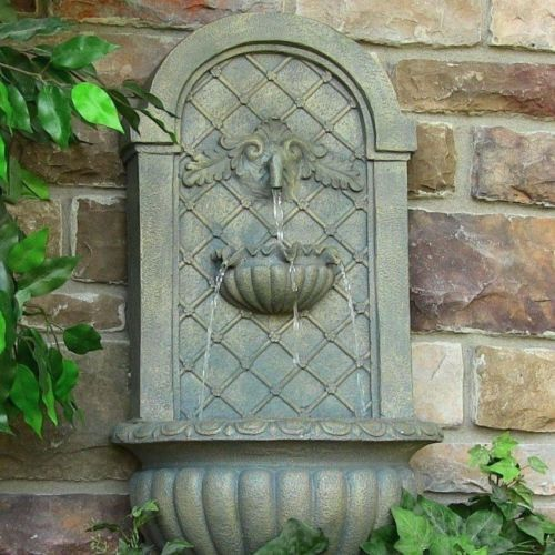 Home Water Fountain Outdoor Garden Wall Mount Electric Venetian Outside  Birdbath