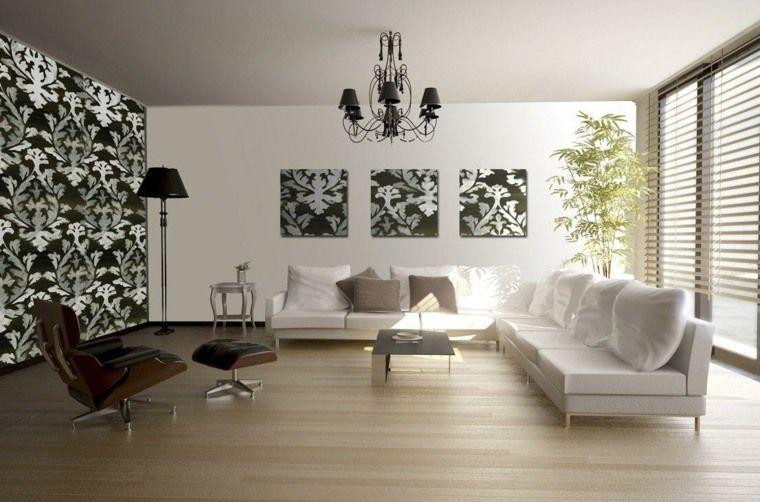 Papier peint tendance  50 idées pour une maison moderne - idee deco maison moderne